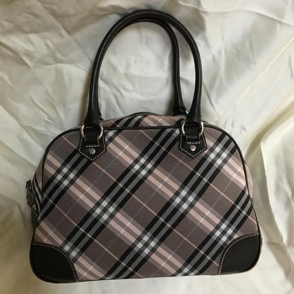 Burberry Handbags - Burberry Blue Label Canvas & Leather